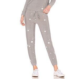 Chaser White Stars Sweatpants / Joggers - size XL